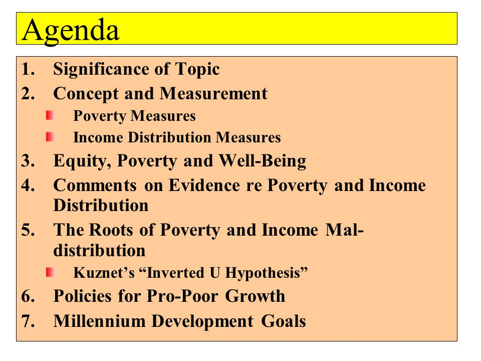 Agenda Significance of Topic Concept and Measurement