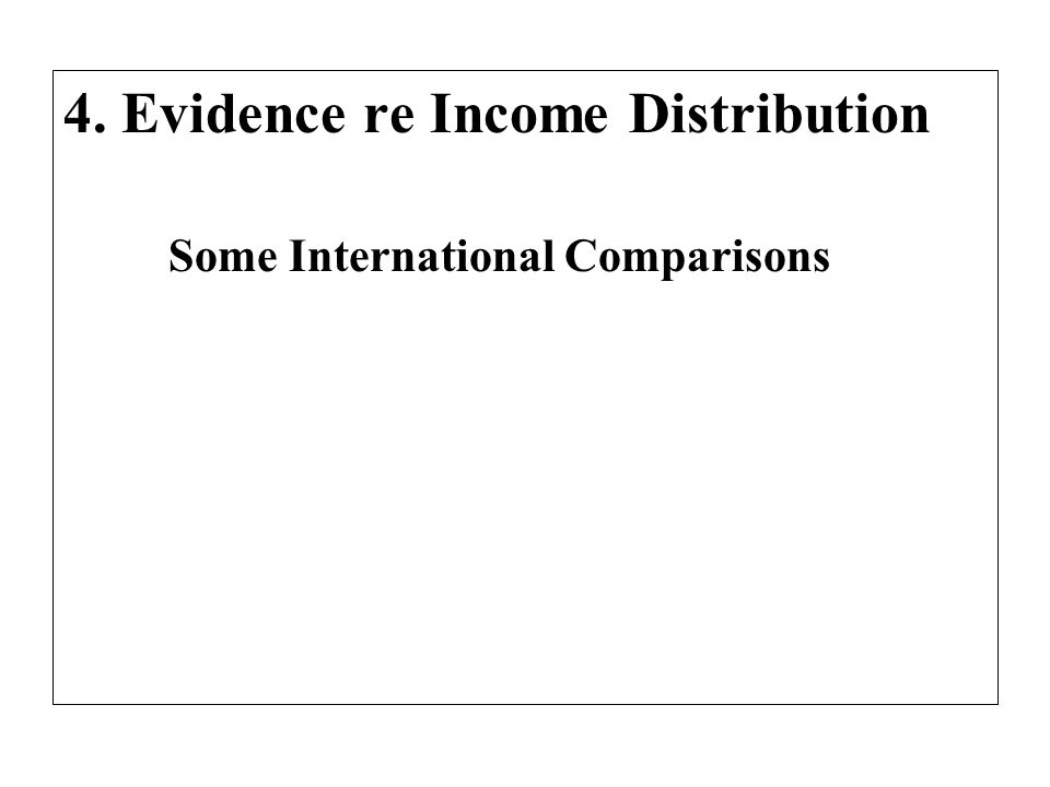 4. Evidence re Income Distribution