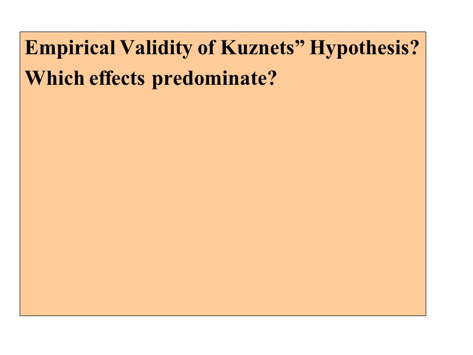 Empirical Validity of Kuznets Hypothesis Which effects predominate