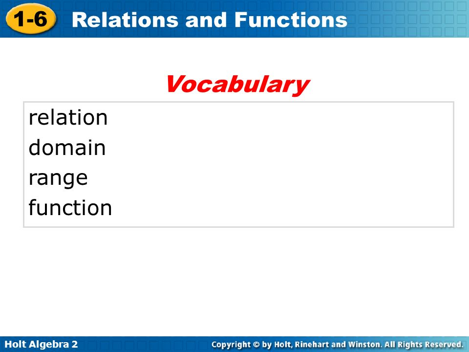 Vocabulary relation domain range function