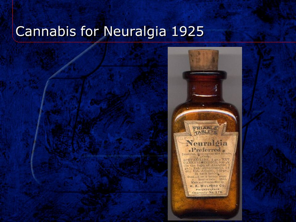 Cannabis for Neuralgia 1925