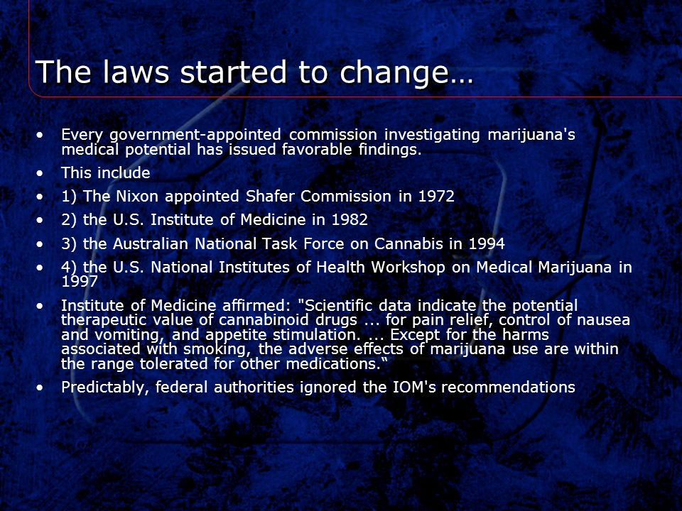 The laws started to change…