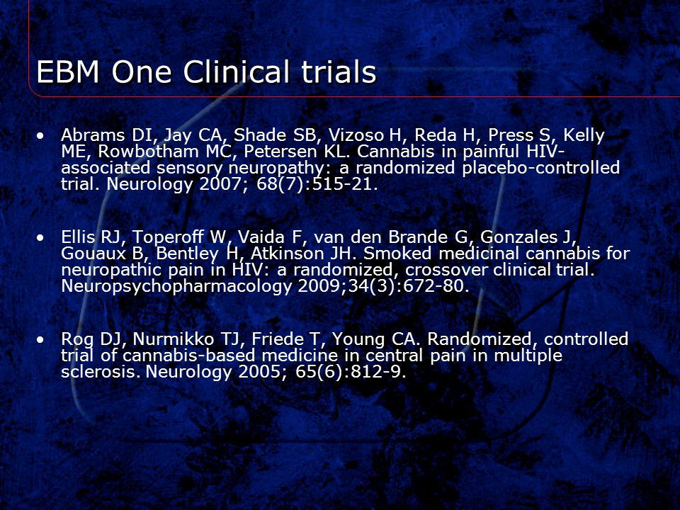 EBM One Clinical trials