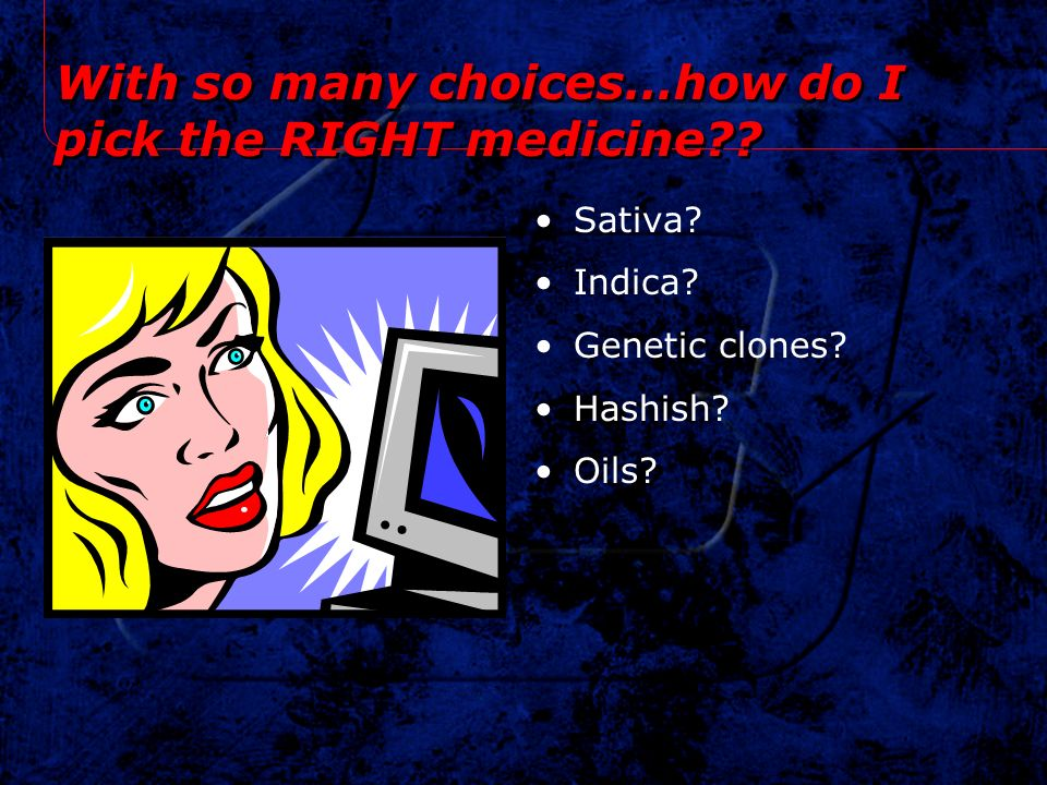 With so many choices…how do I pick the RIGHT medicine
