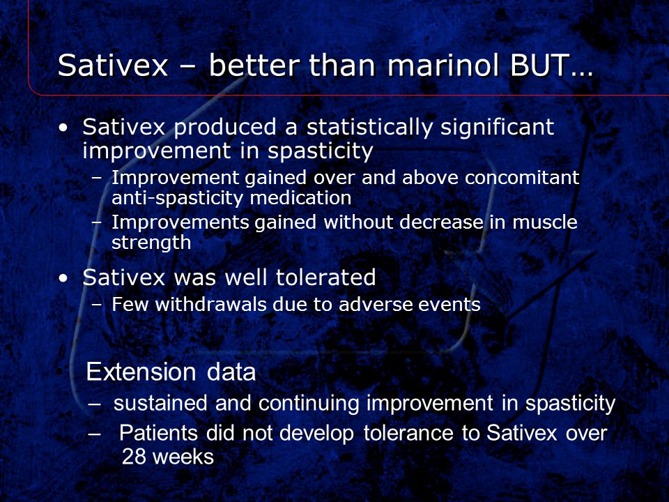 Sativex – better than marinol BUT…