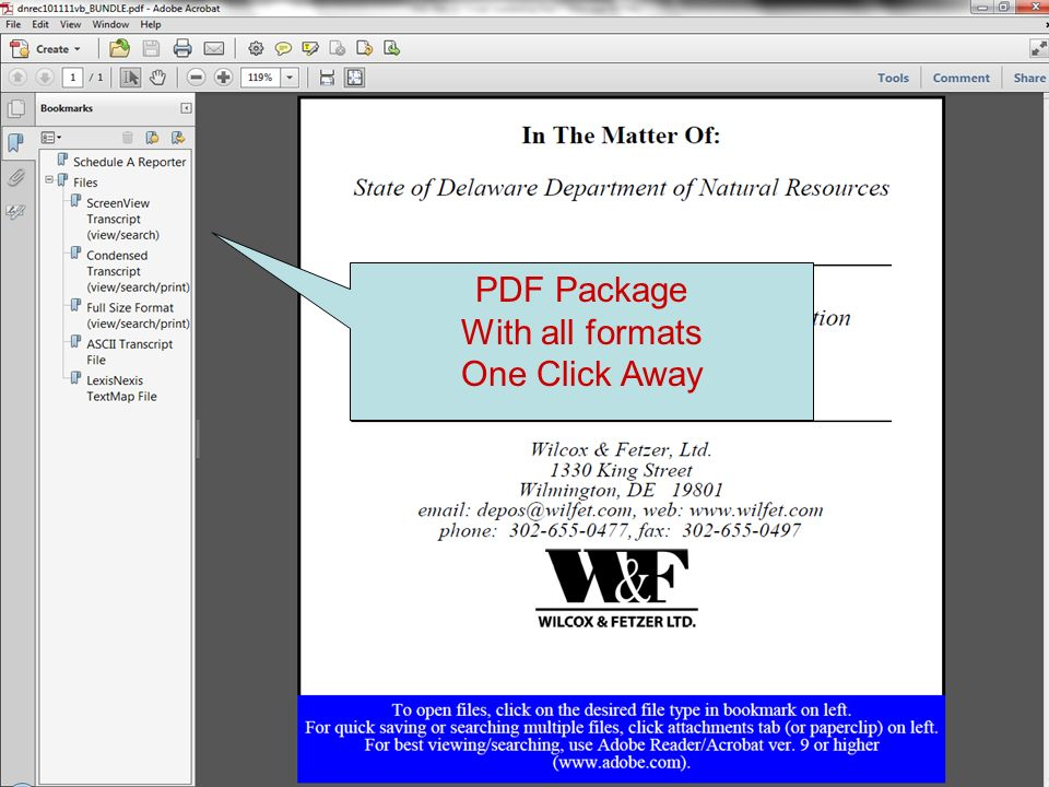 PDF Package With all formats One Click Away