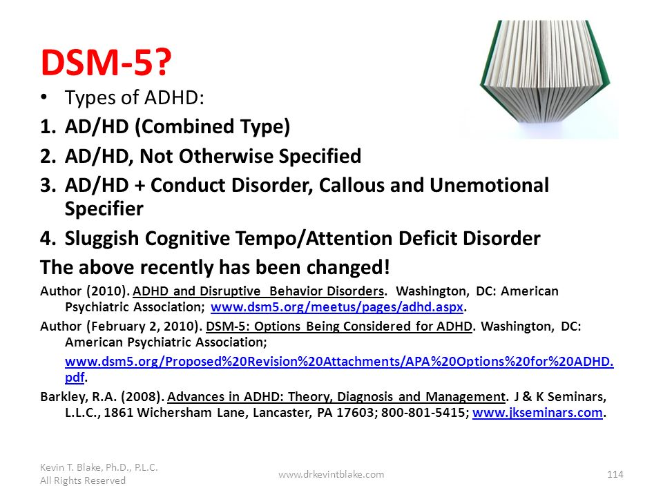 DSM-5 Types of ADHD: AD/HD (Combined Type)