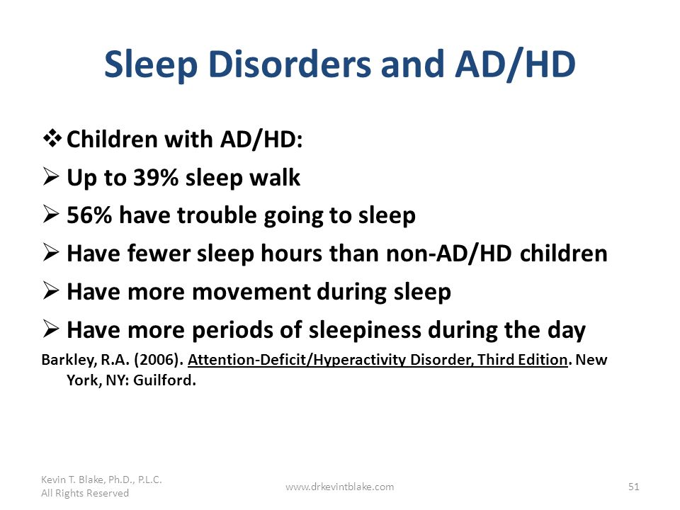 Sleep Disorders and AD/HD