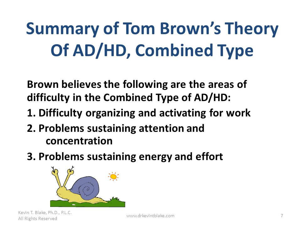Summary of Tom Brown's Theory Of AD/HD, Combined Type