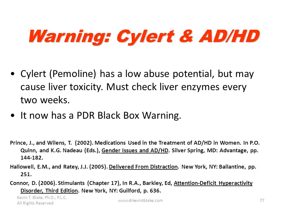 Warning: Cylert & AD/HD