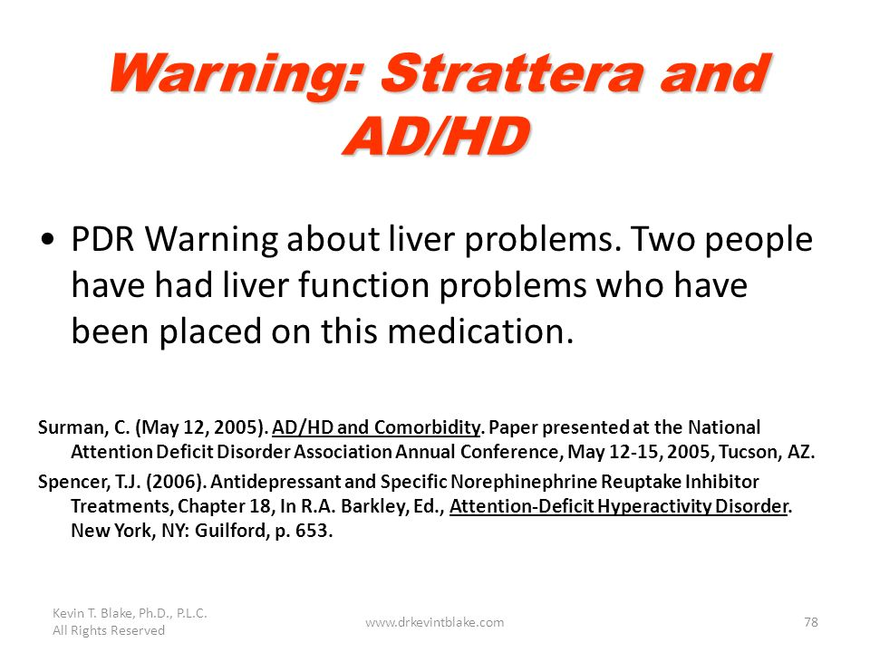 Warning: Strattera and AD/HD