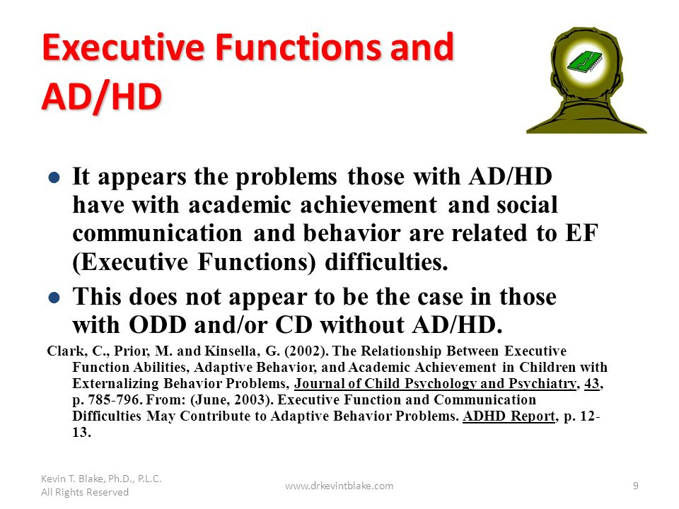 Executive Functions and AD/HD