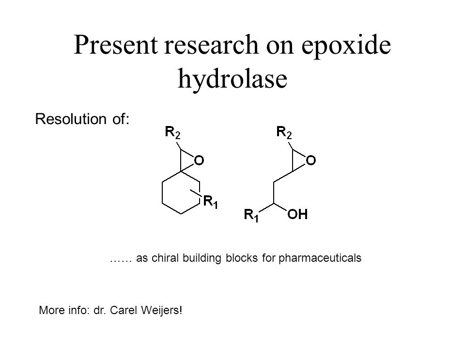 Present research on epoxide hydrolase
