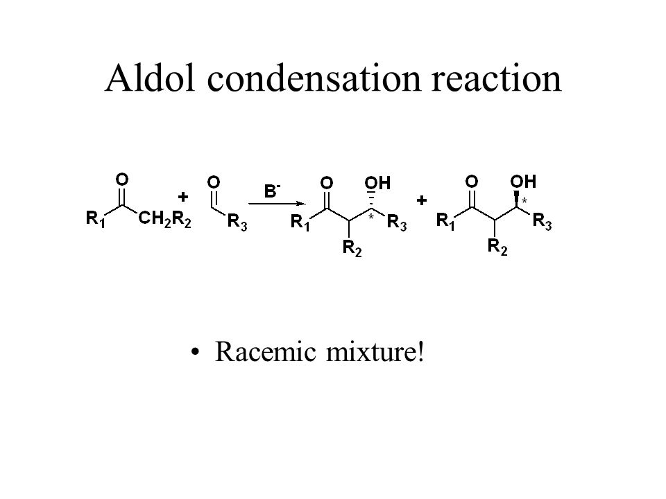 Aldol condensation reaction