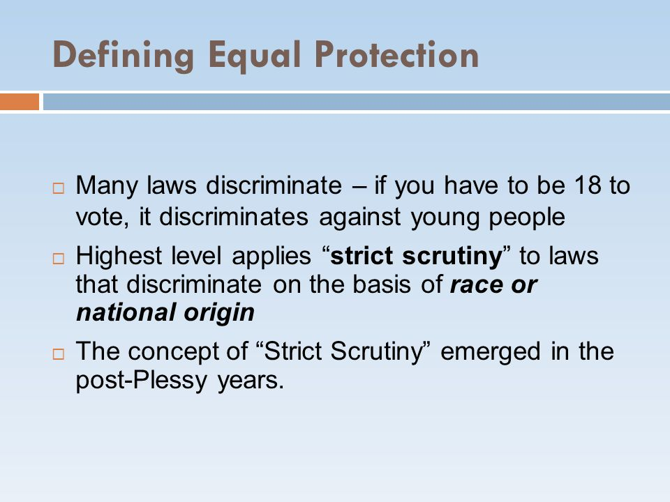 Defining Equal Protection