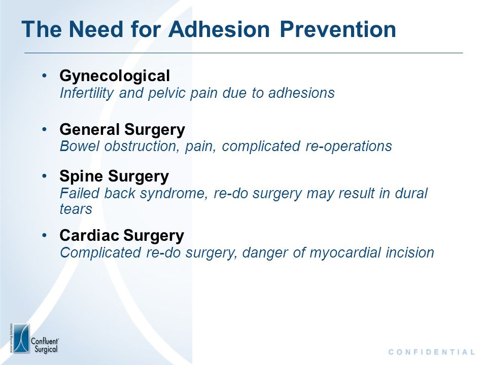 The Need for Adhesion Prevention