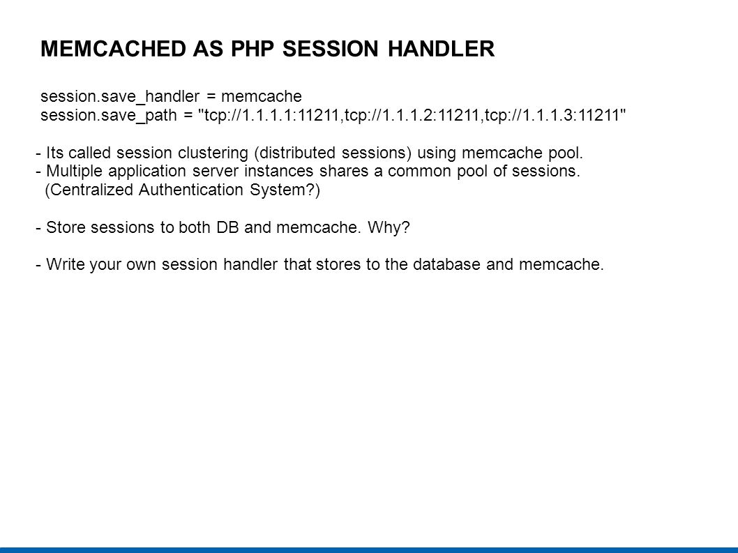 MEMCACHED AS PHP SESSION HANDLER