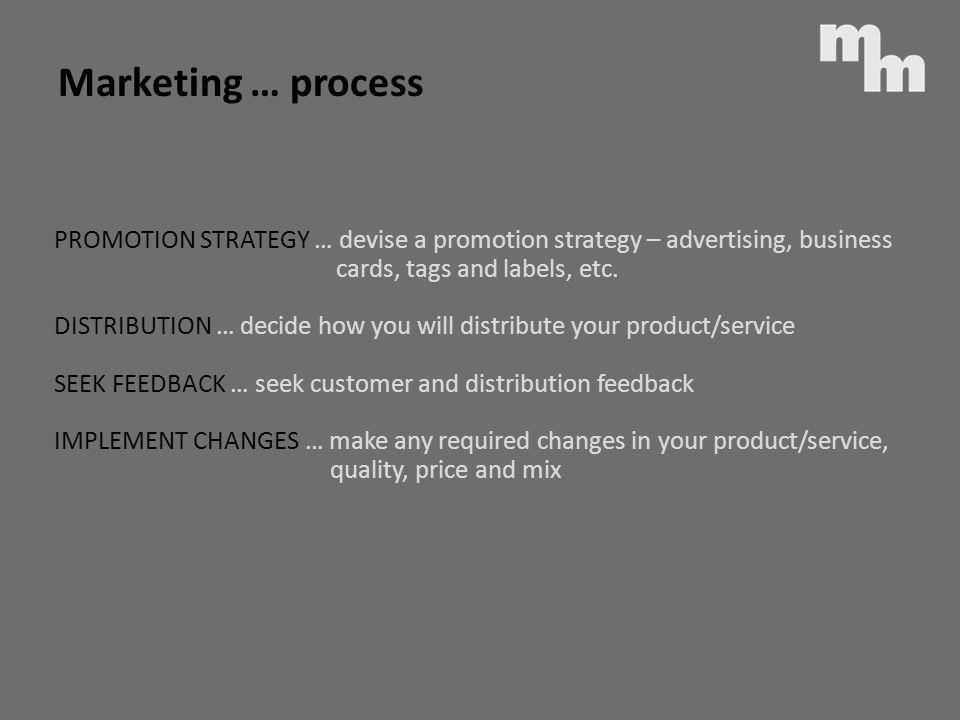 Marketing … process