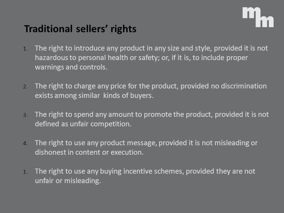 Traditional sellers' rights