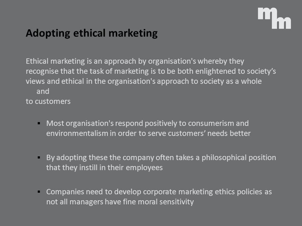 Adopting ethical marketing
