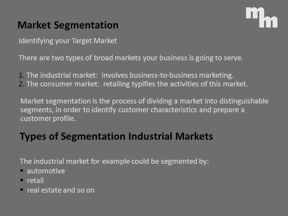 Types of Segmentation Industrial Markets