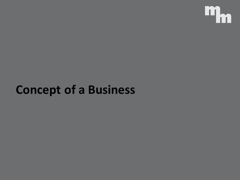 Concept of a Business
