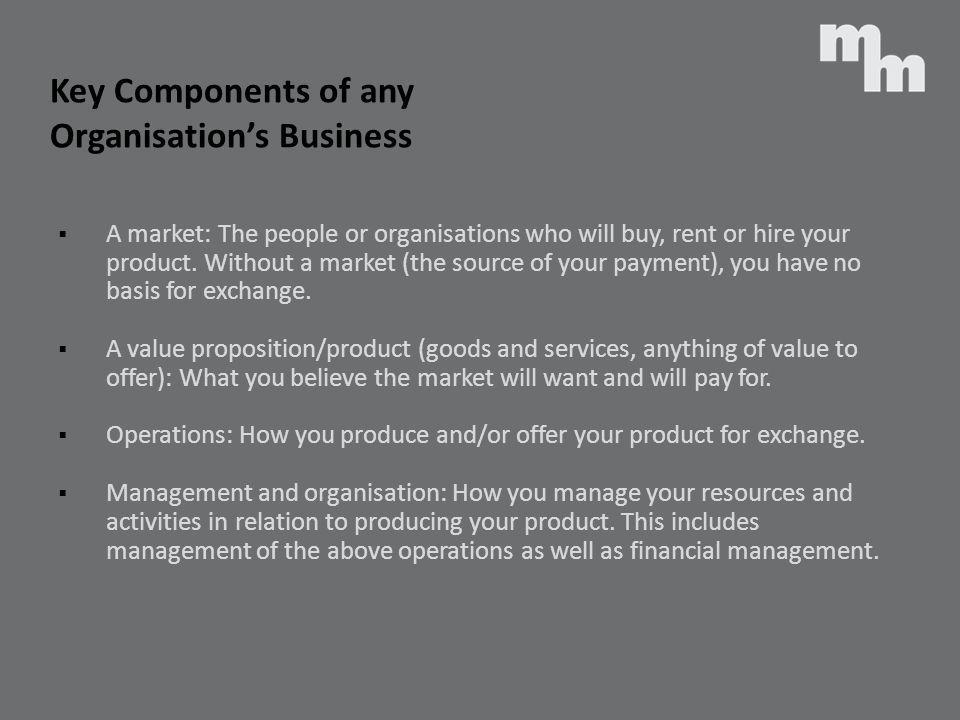 Key Components of any Organisation's Business