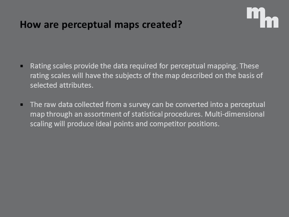 How are perceptual maps created