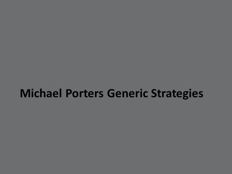 Michael Porters Generic Strategies