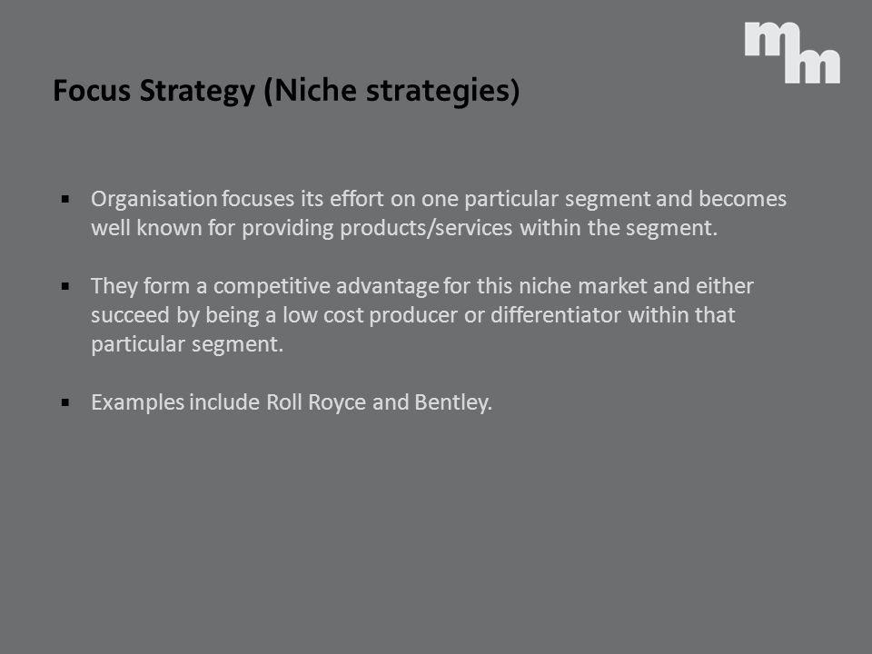 Focus Strategy (Niche strategies)