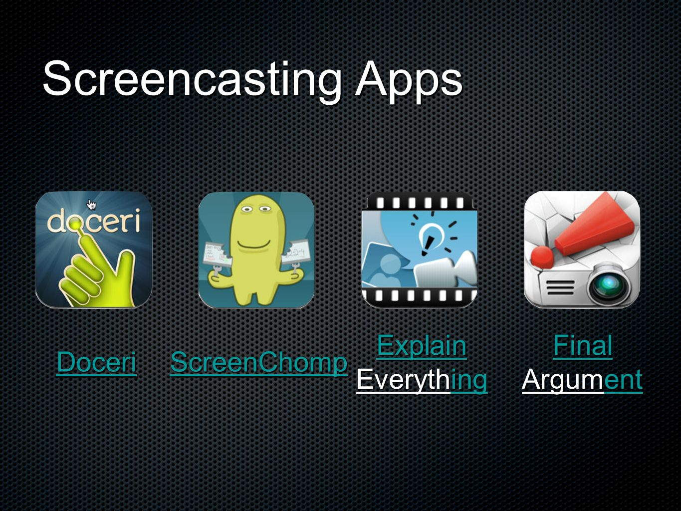 Screencasting Apps Explain Everything Final Argument Doceri