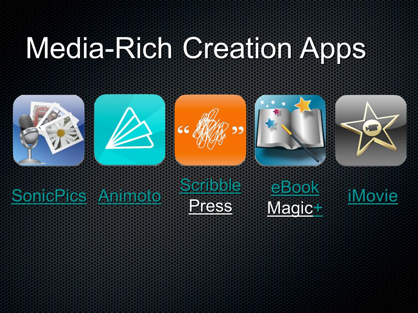 Media-Rich Creation Apps