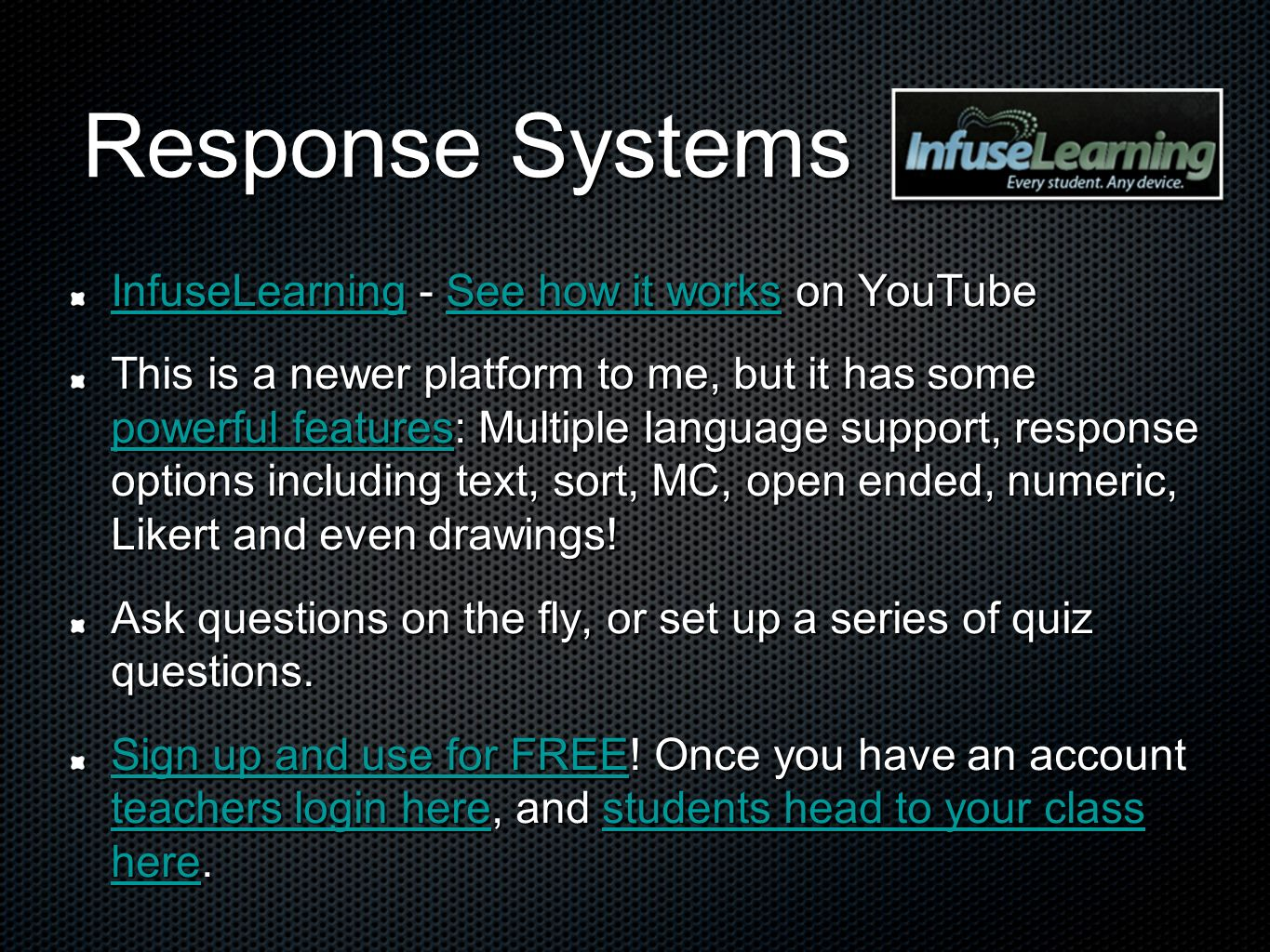 Response Systems InfuseLearning - See how it works on YouTube