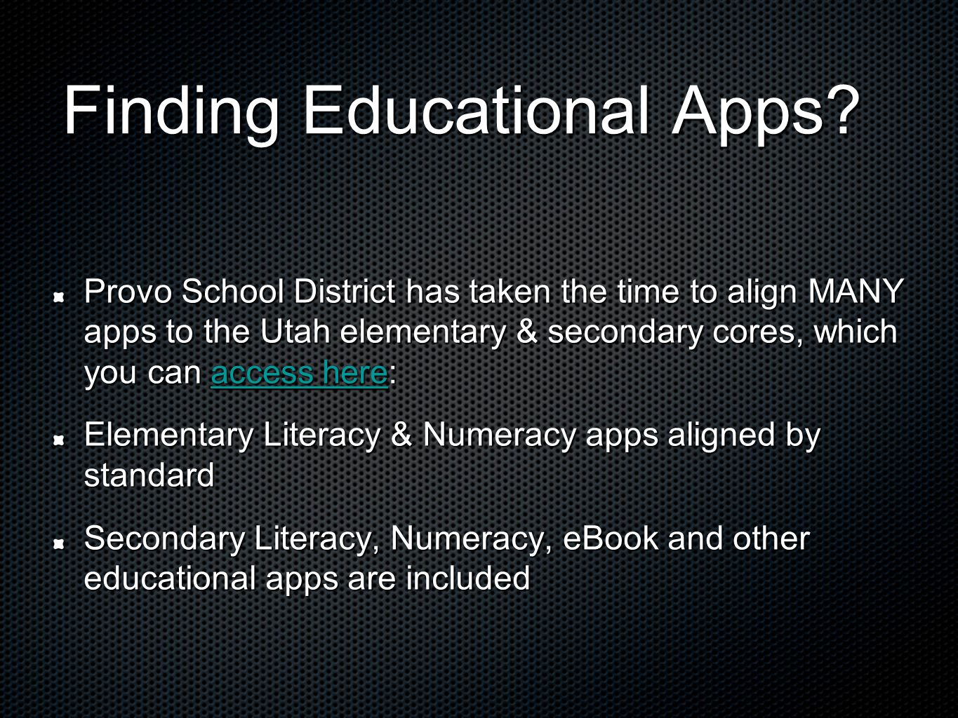 Finding Educational Apps