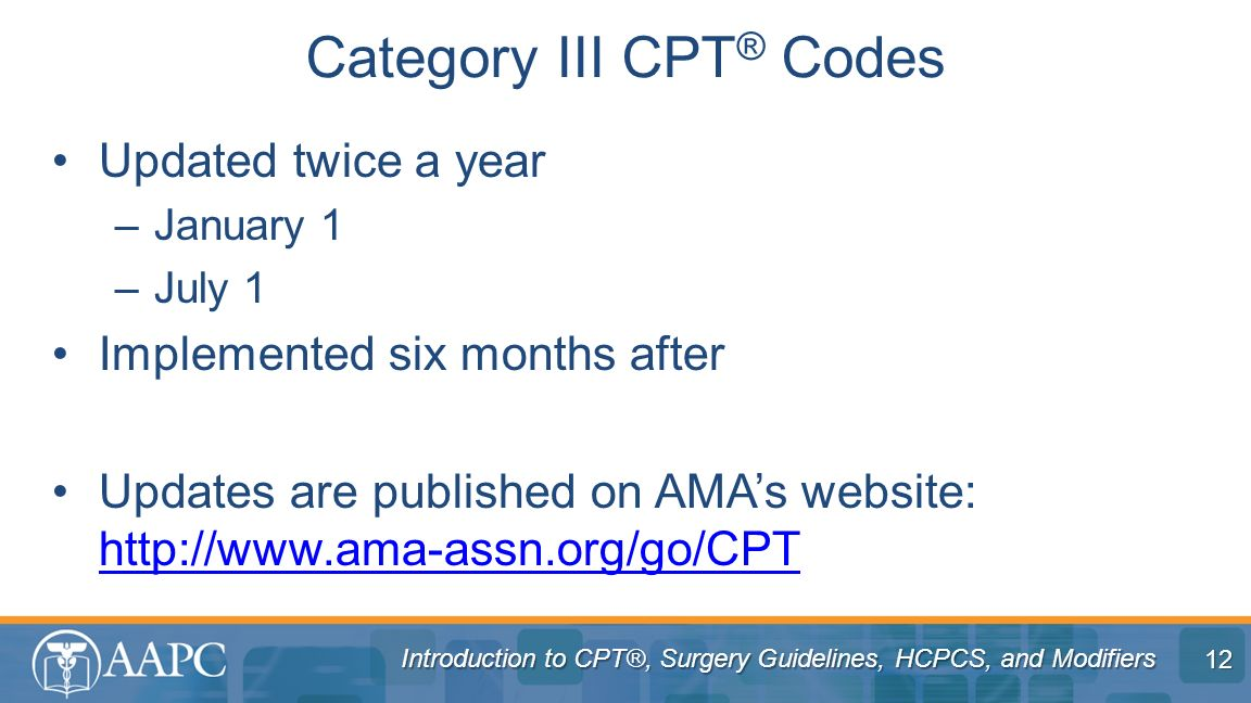 Category III CPT® Codes