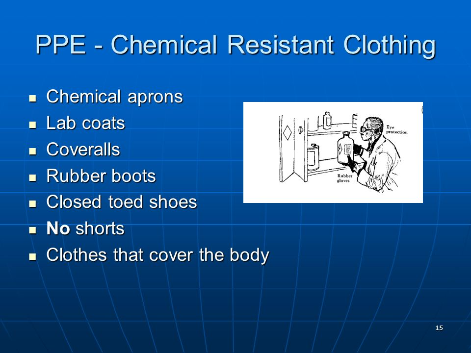 PPE - Chemical Resistant Clothing