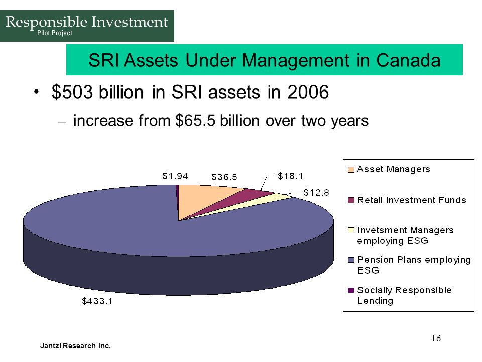 SRI Assets Under Management in Canada