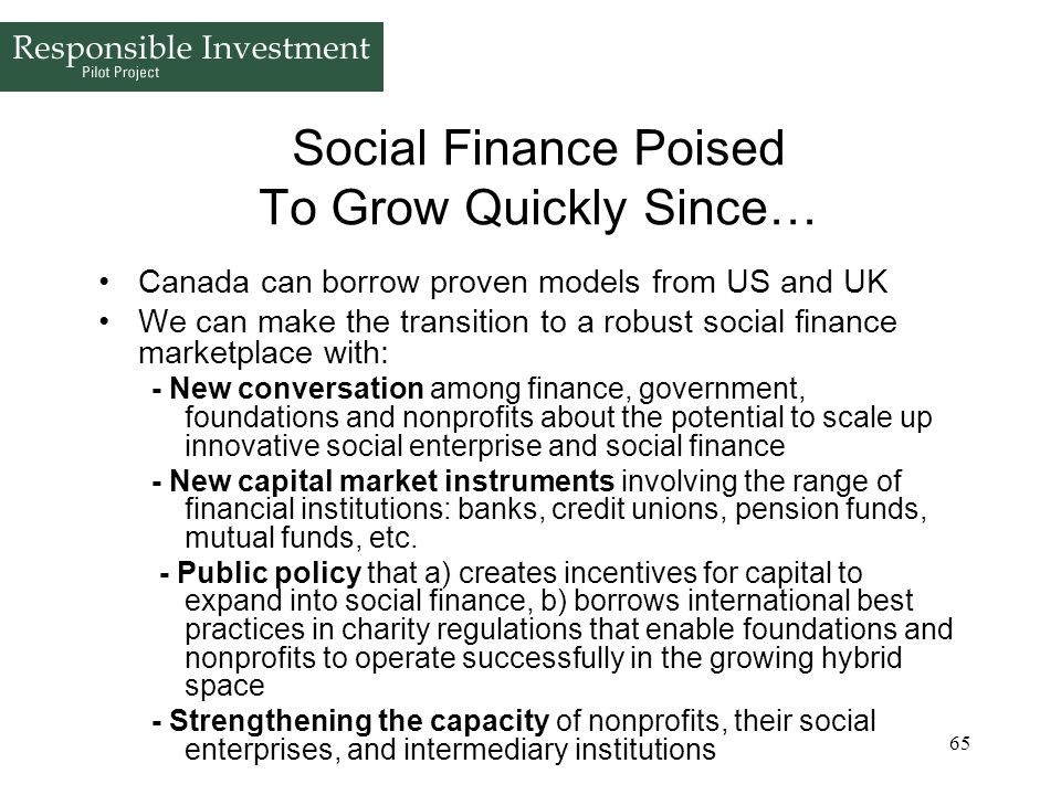 Social Finance Poised To Grow Quickly Since…