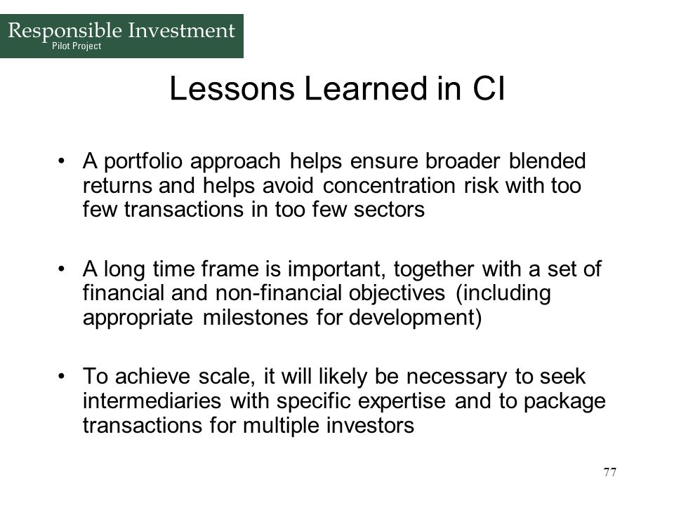 Lessons Learned in CI