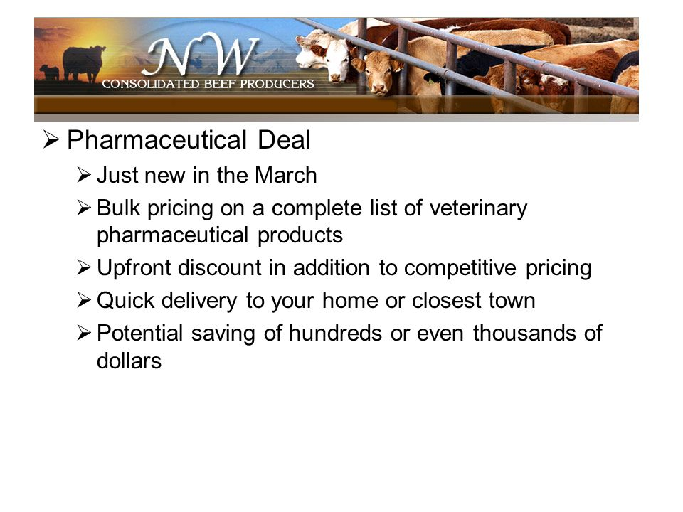 Pharmaceutical Deal Just new in the March