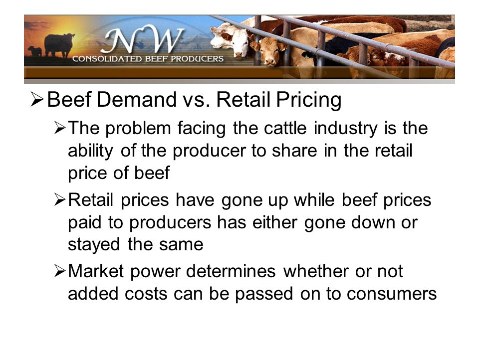 Beef Demand vs. Retail Pricing