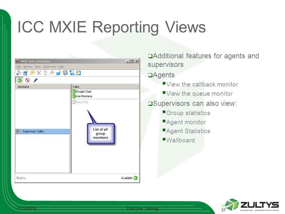 ICC MXIE Reporting Views