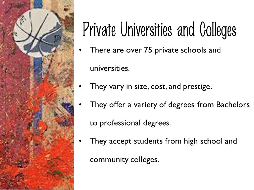 Private Universities and Colleges
