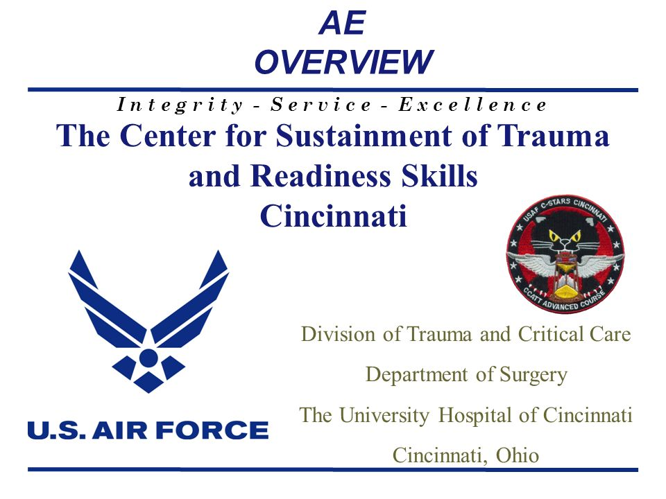 The Center for Sustainment of Trauma and Readiness Skills Cincinnati