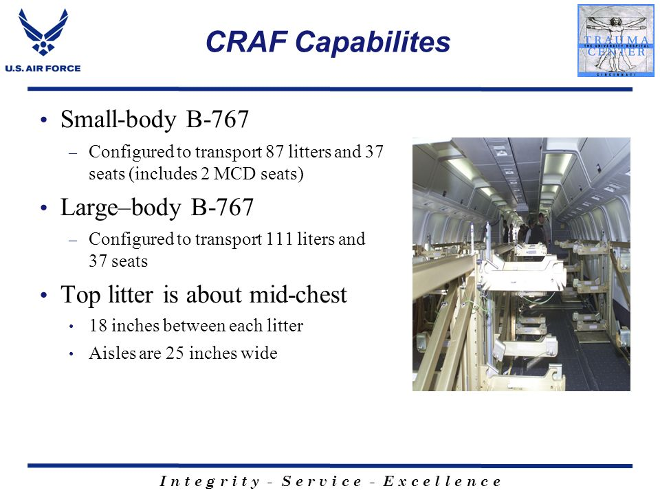 CRAF Capabilites Small-body B-767 Large–body B-767