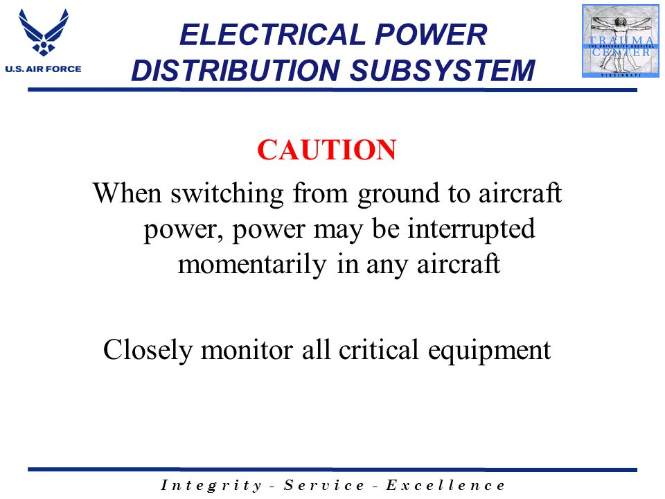 ELECTRICAL POWER DISTRIBUTION SUBSYSTEM