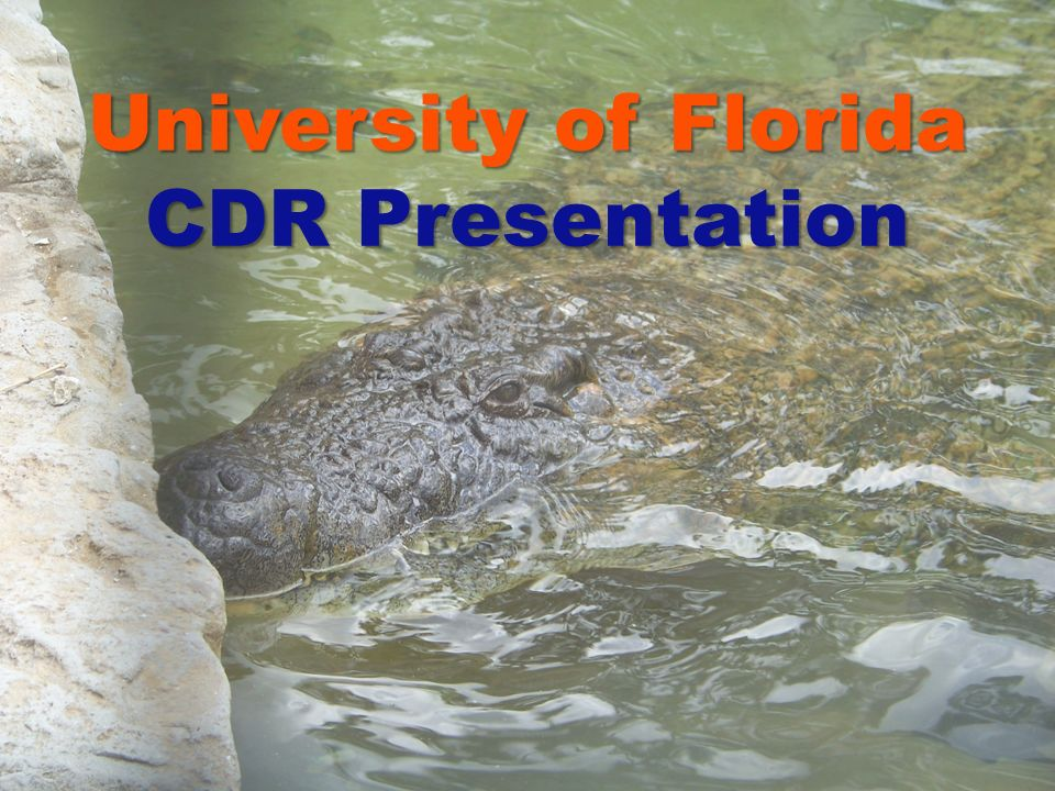 University of Florida CDR Presentation