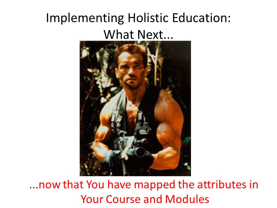 Implementing Holistic Education: What Next...