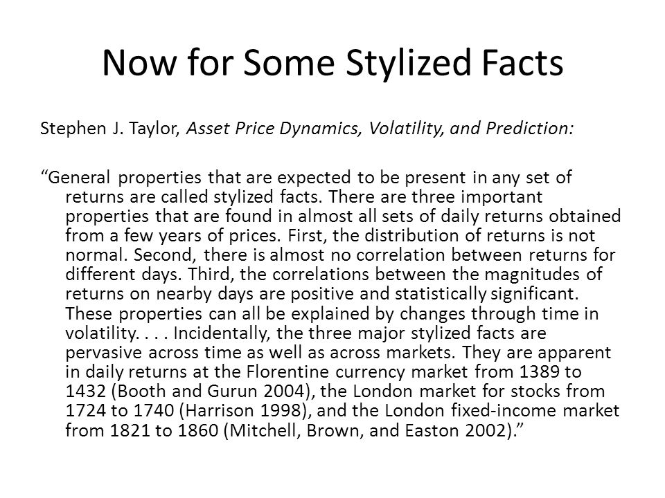 asset price dynamics volatility and prediction
