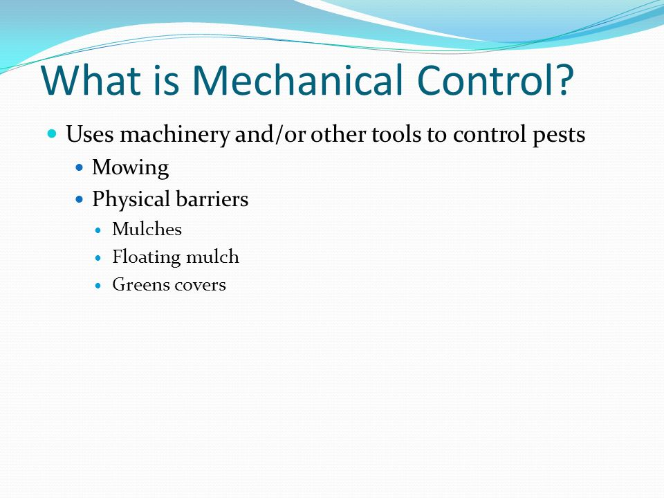 What is Mechanical Control
